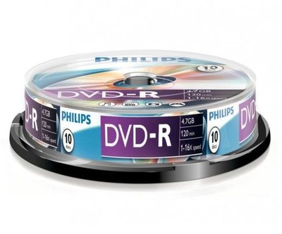 Philips DVD-R47CBx10 Cake