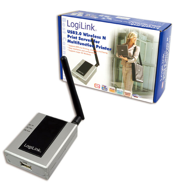 LogiLink Wireless LAN Printserver Printer USB 2.0 and MFP