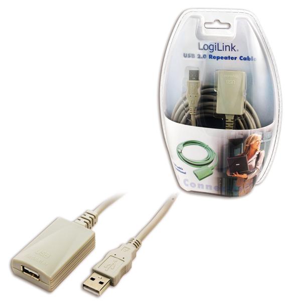 Logilink USB 2.0-ás hoszabbító kábel, szürke 5M