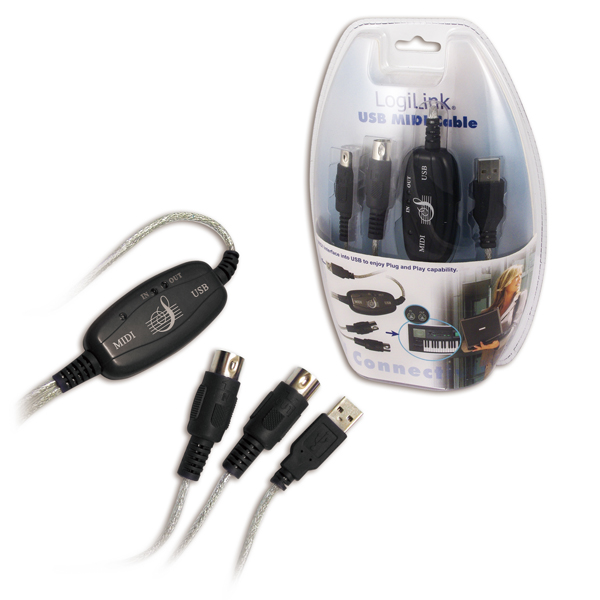 Logilink USB MIDI kábel