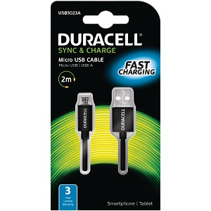 Duracell Sync/Charge Cable 2 Metre Black
